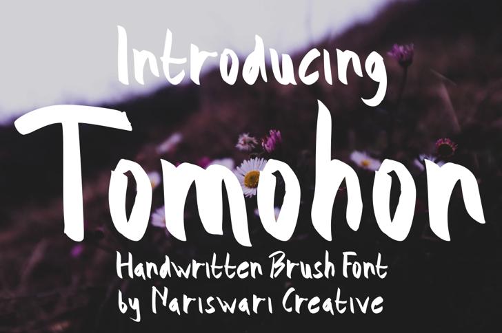 Tomohon Demo Font poster