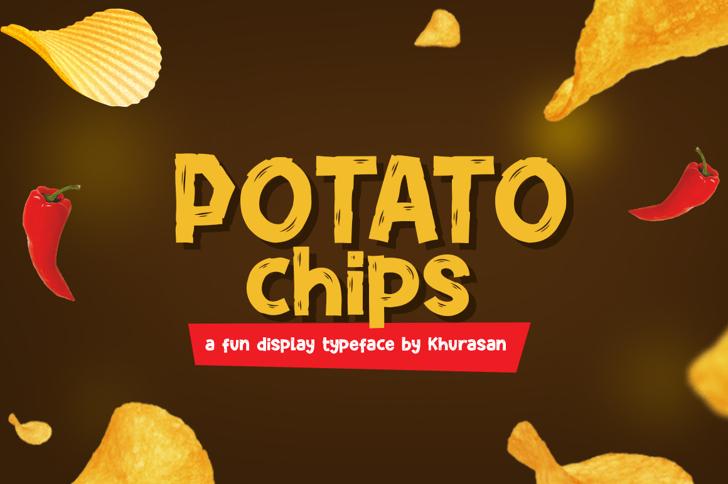 Potato Chips Font poster