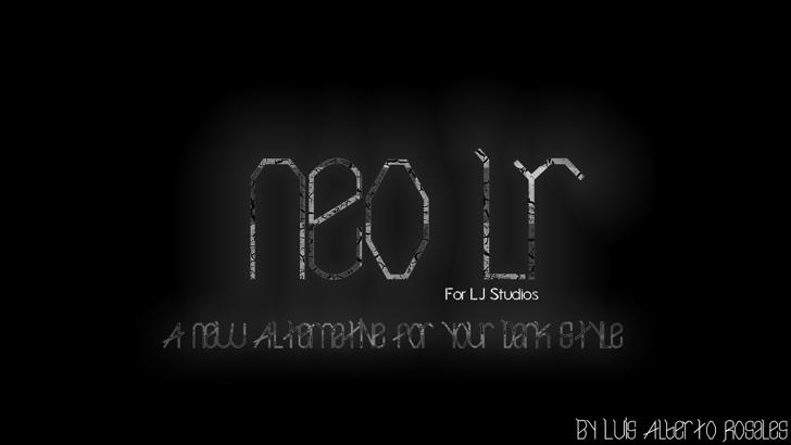 Neo LR Font screenshot black-and-white