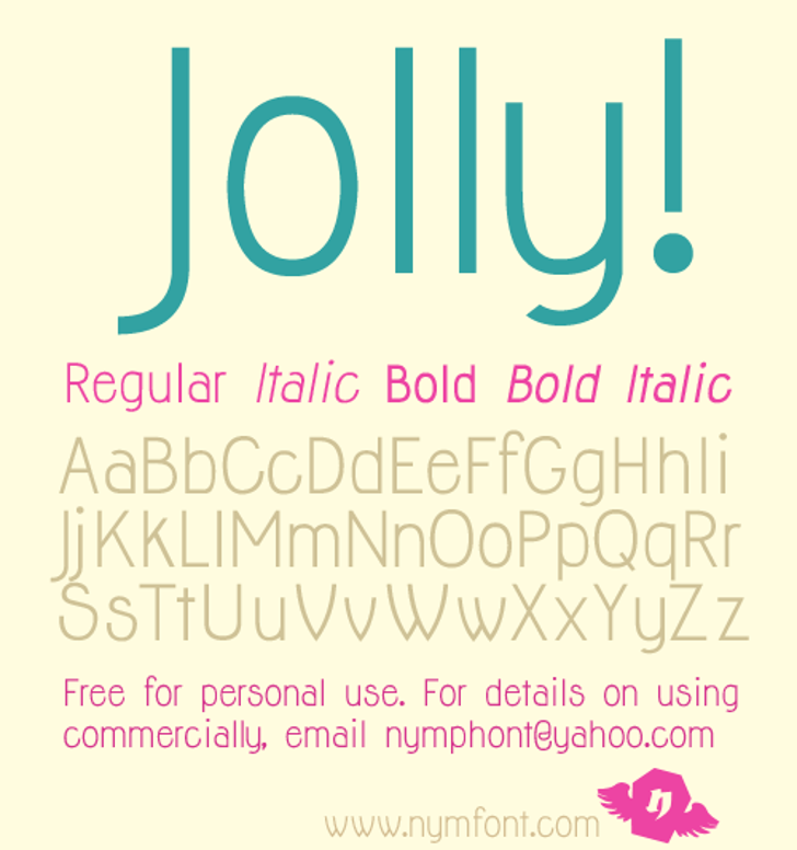 Jolly Font screenshot text