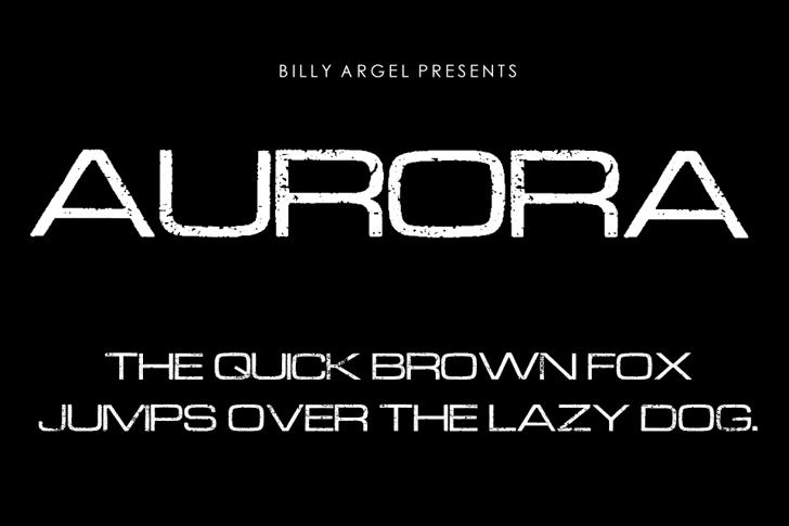 AURORA Font design screenshot