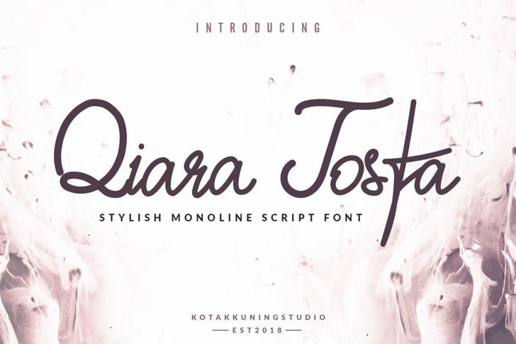 Qiara Tosfa Font handwriting design