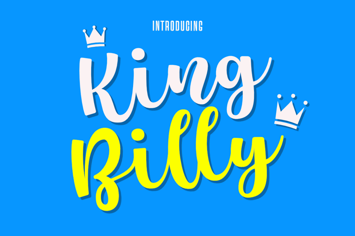 King Billy Font poster