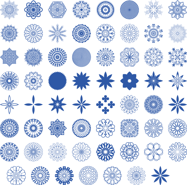 Mandalas Font pattern design