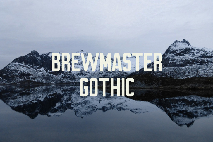Brewmaster Gothic Demo Font sky outdoor