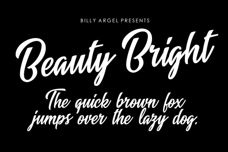 Beauty Bright Font text design