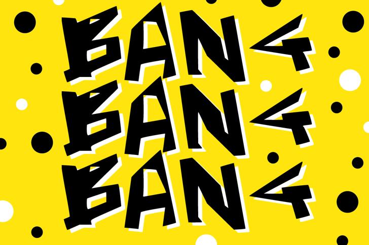 Bang Bang Bang Font poster