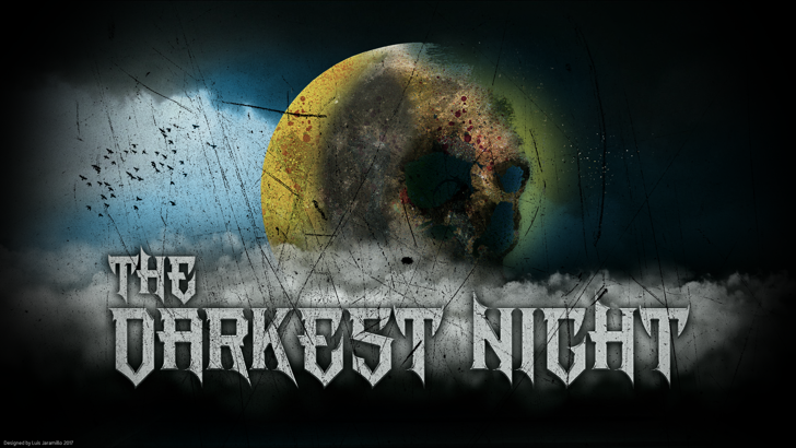 The Darkest Night Font painting