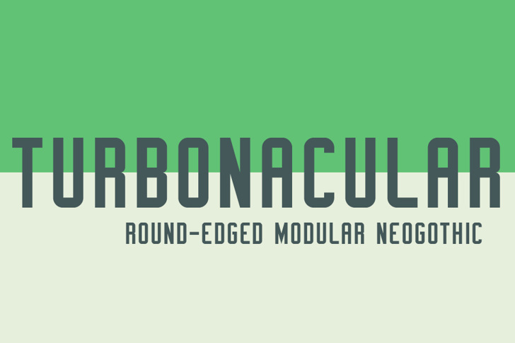 Turbonacular Demo Font design screenshot