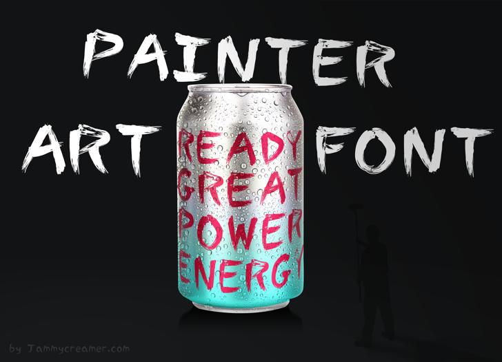 Painter Font soft drink drink