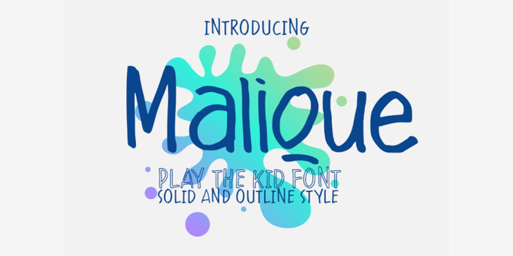 Malique Font poster