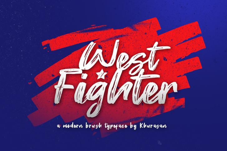 West Fighter Font poster