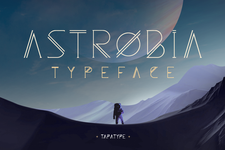 Astrobia Font screenshot poster