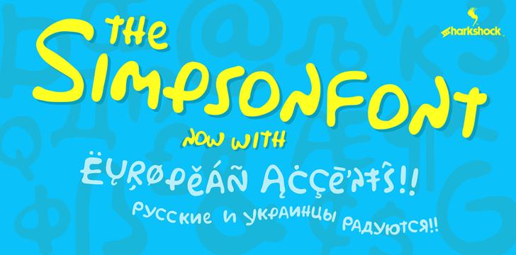 Simpsonfont design screenshot