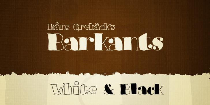 Barkants Font design text