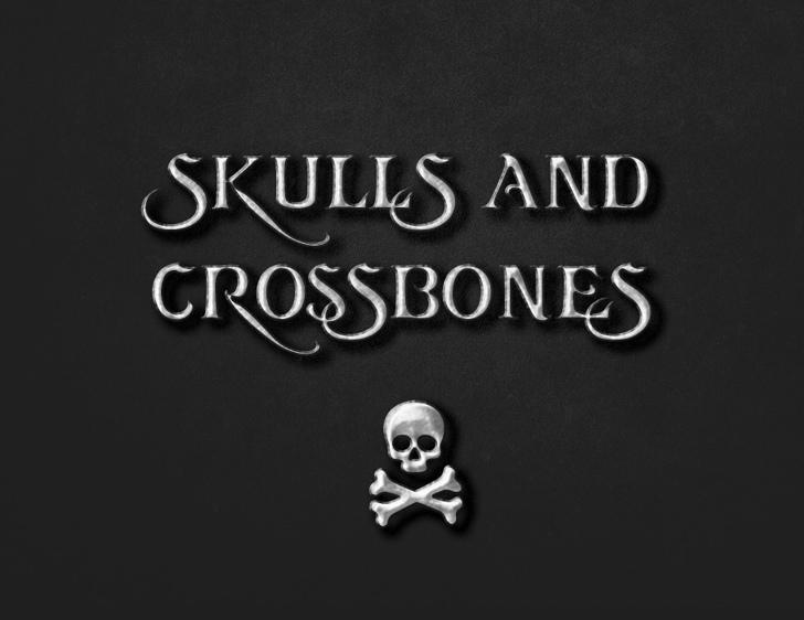 skullsandcrossbones Font poster