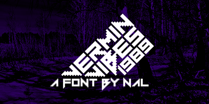Vermin Vibes 1989 Font tree design