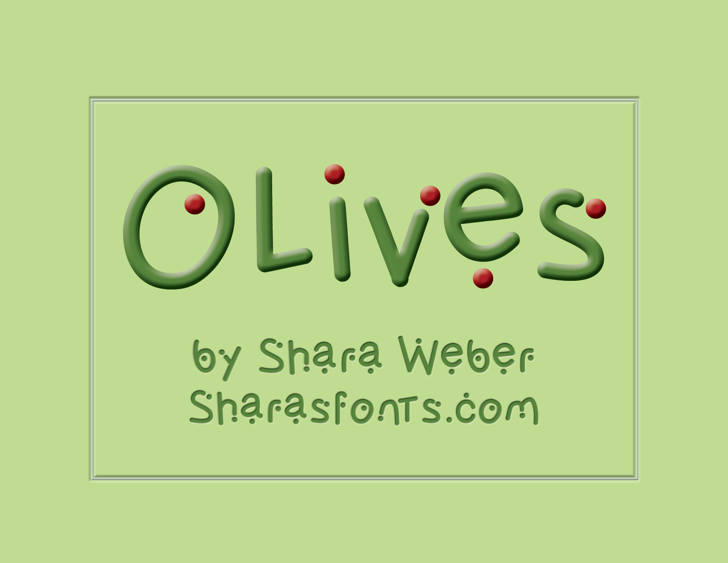 Olives Font cartoon screenshot