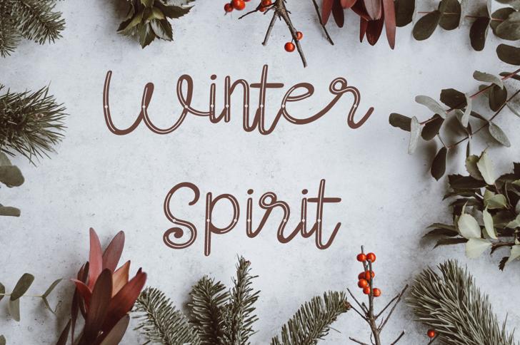 Winter Spirit-Slash Font tree plant
