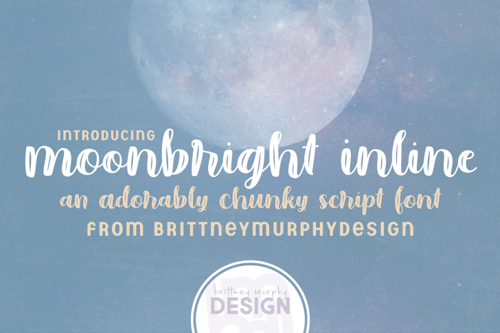 Moonbright Inline Font poster