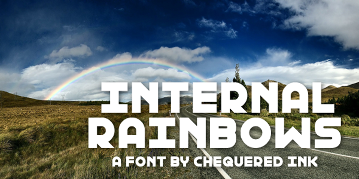 Internal Rainbows Font sky sign