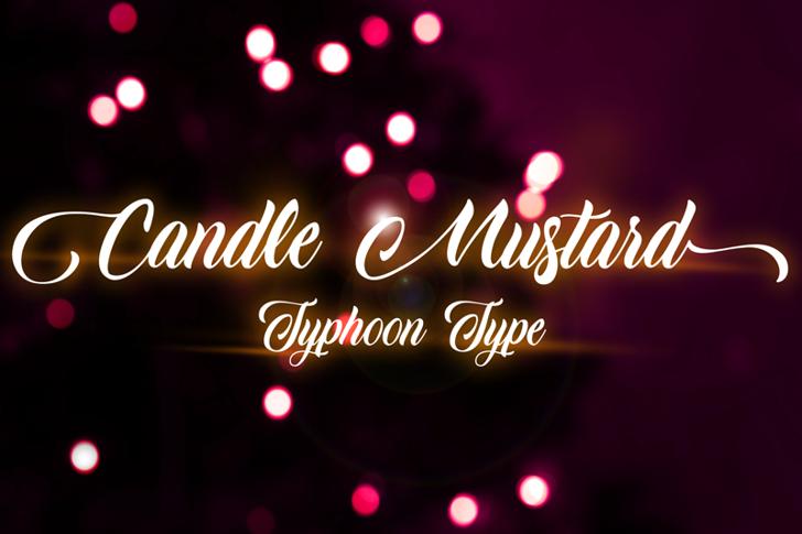 Candle Mustard Font light fireworks
