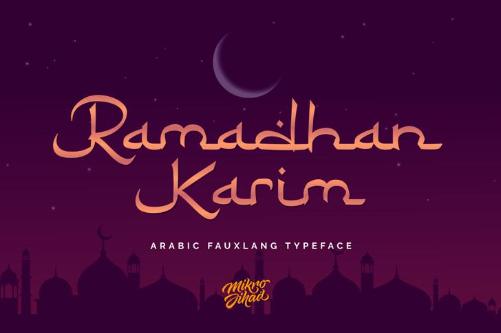 Ramadhan Karim Font design typography