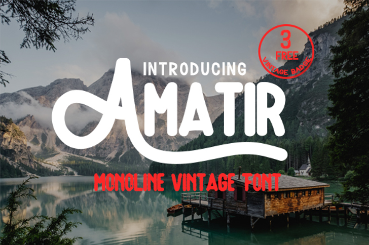 Amatir Font tree text