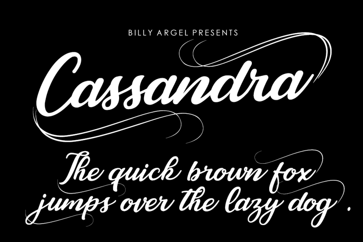 Cassandra Personal Use Font book handwriting