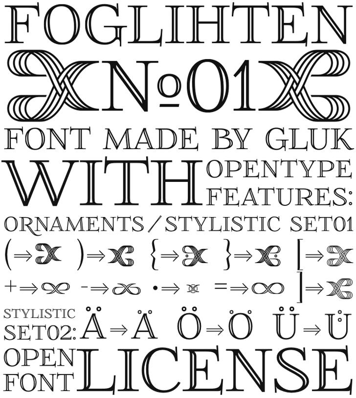 FoglihtenNo01 Font text design