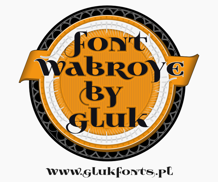 Wabroye Font design poster