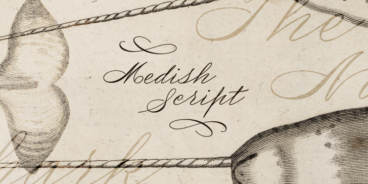Medish Deco PERSONAL USE ONLY Font handwriting letter