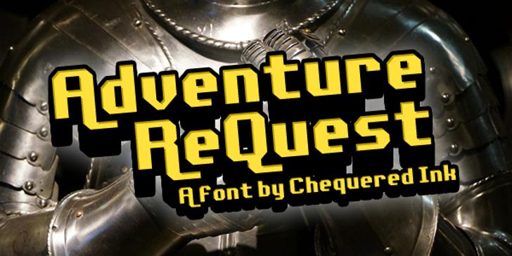 Adventure ReQuest Font indoor screenshot