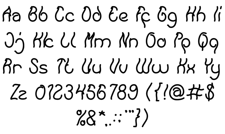 Keep Quite and Simple Font Letters Charmap