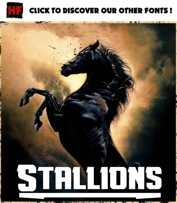 Stallions Font book text