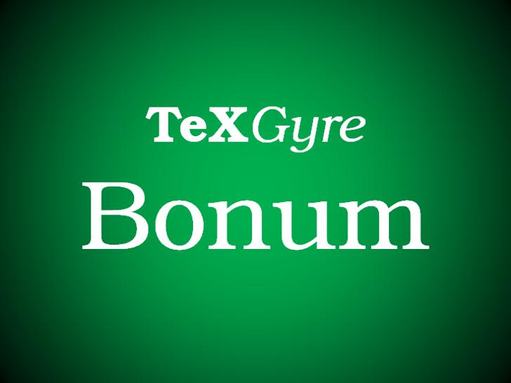 TeX Gyre Bonum Font design screenshot