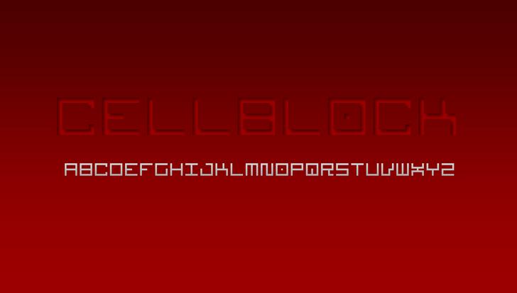 Cellblock NBP Font design screenshot