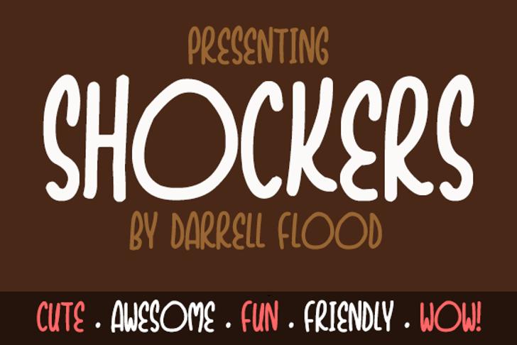 Shockers Font design screenshot