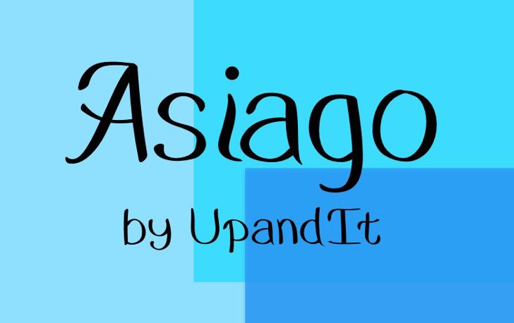 Asiago Font design font