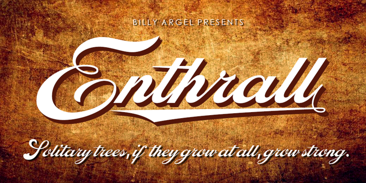 Enthrall Personal Use Font text design