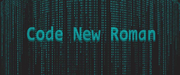 Code New Roman Font screenshot electric blue