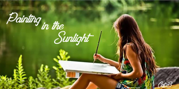 Painting in the Sunlight Font person outdoor