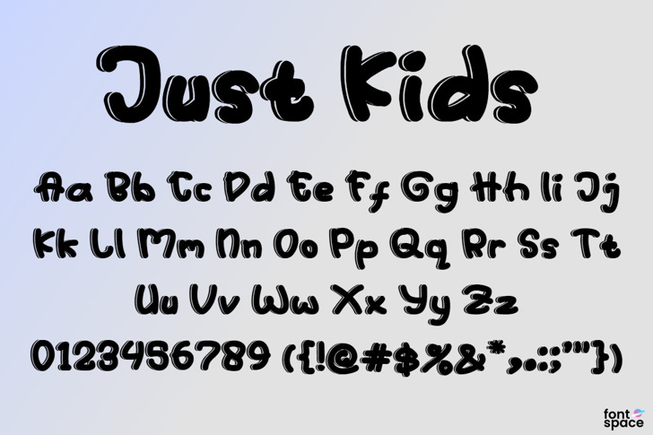 Just Kids Font poster