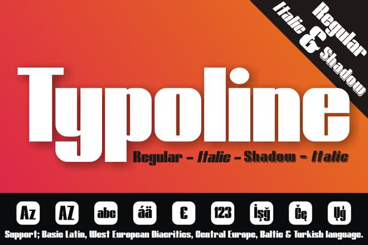 Typoline Font screenshot design