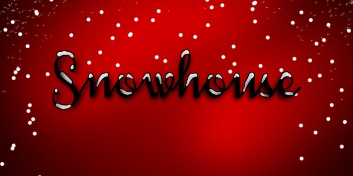 Snowhouse DEMO Font design graphic