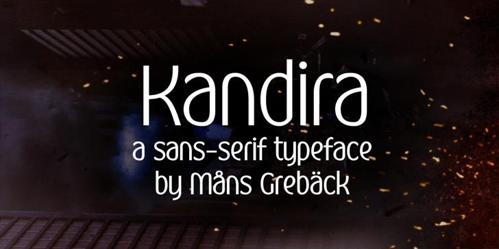 Kandira PERSONAL Font screenshot text