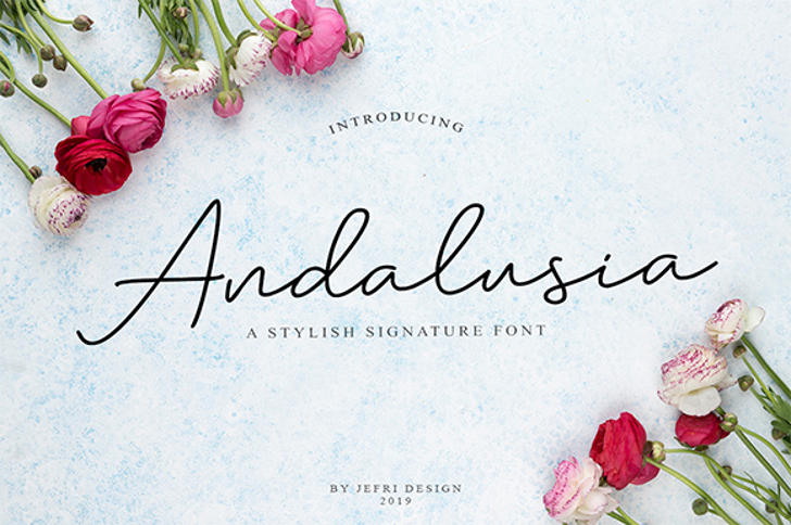 Andalusia Font poster