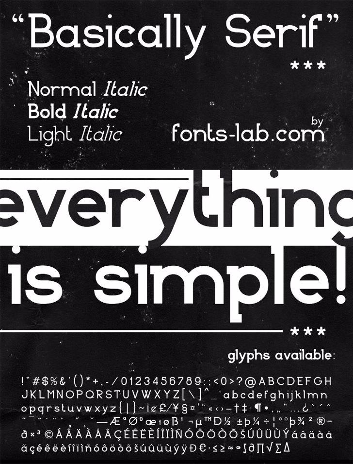 Basically Serif_FREE-version Font text book
