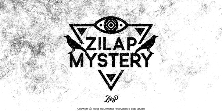 Zilap Mistery Personal Use Font drawing cartoon