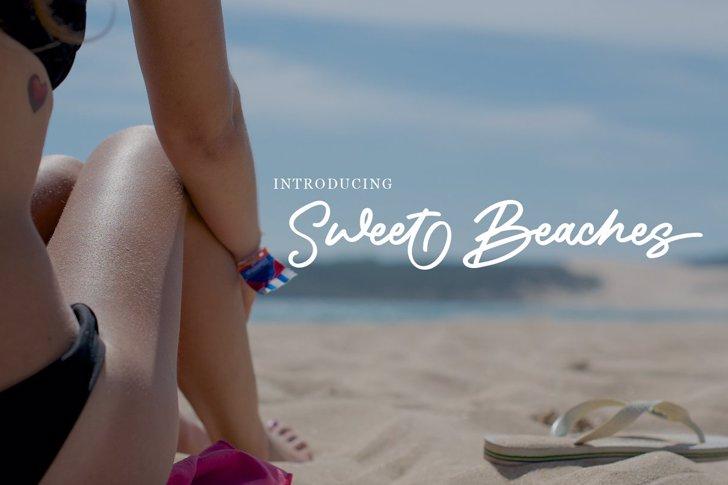 Sweet Beaches Font poster